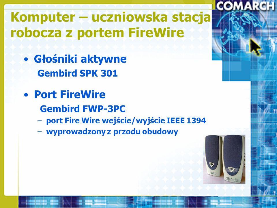 Komputer – uczniowska stacja robocza z portem FireWire