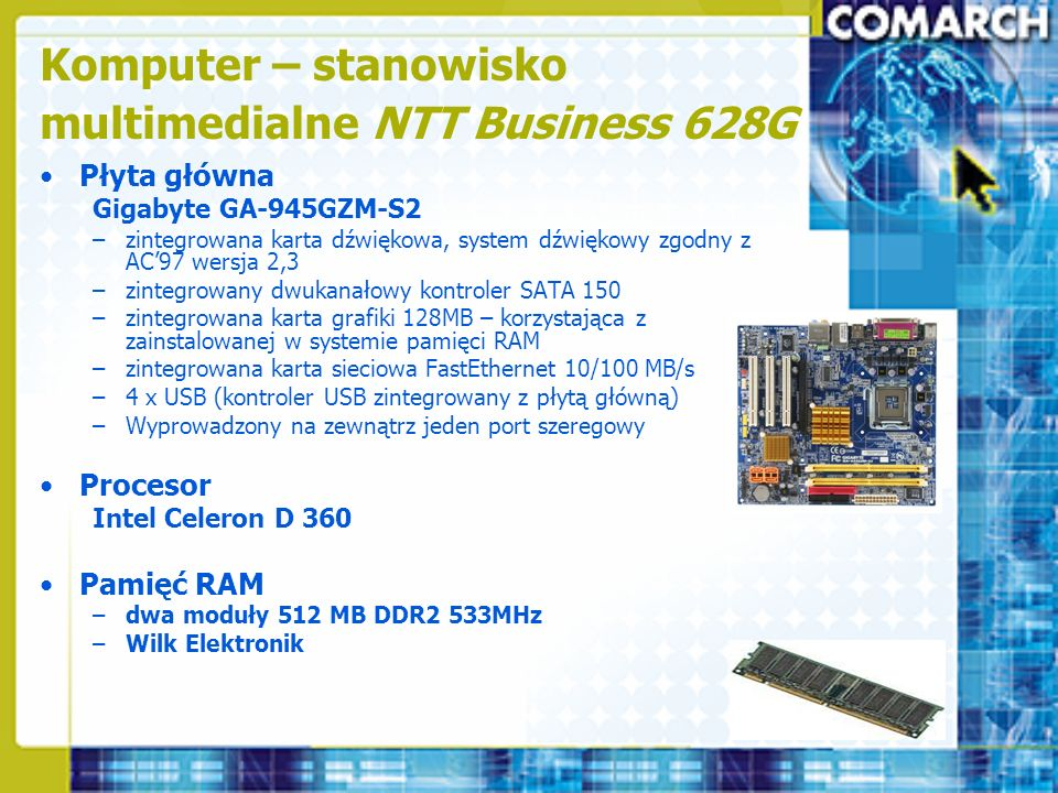 Komputer – stanowisko multimedialne NTT Business 628G