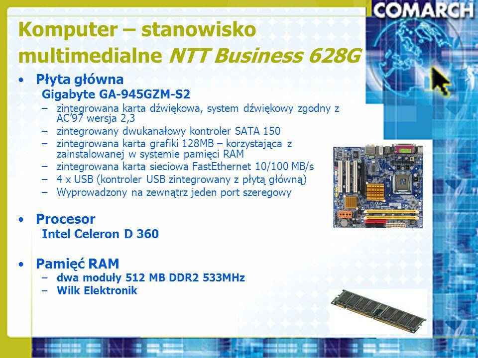 Komputer – stanowisko multimedialne NTT Business 628G