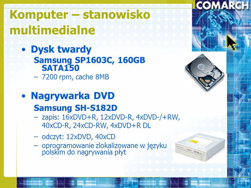 Komputer – stanowisko multimedialne