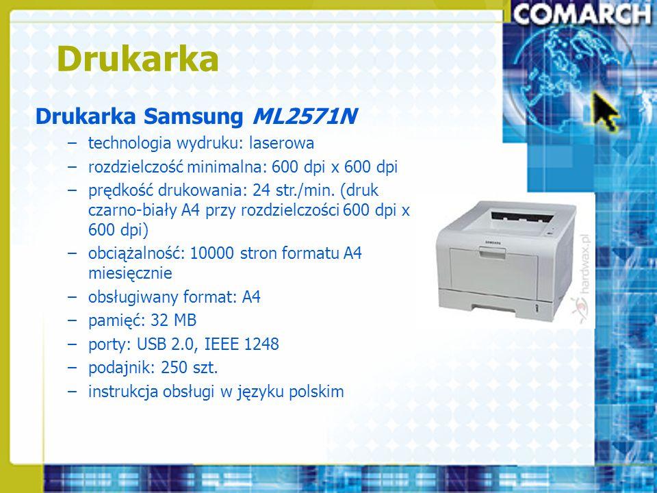Drukarka Drukarka Samsung ML2571N technologia wydruku: laserowa
