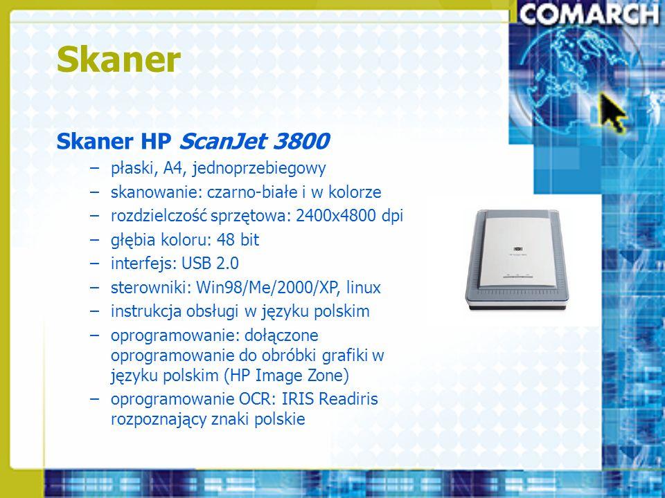 Skaner Skaner HP ScanJet 3800 płaski, A4, jednoprzebiegowy