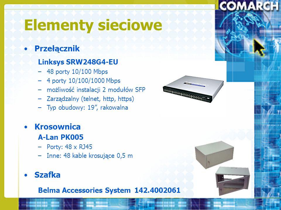 Elementy sieciowe Przełącznik Krosownica Szafka Linksys SRW248G4-EU