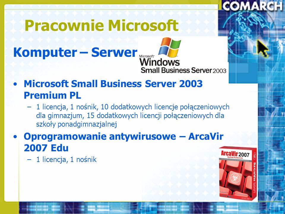 Pracownie Microsoft Komputer – Serwer