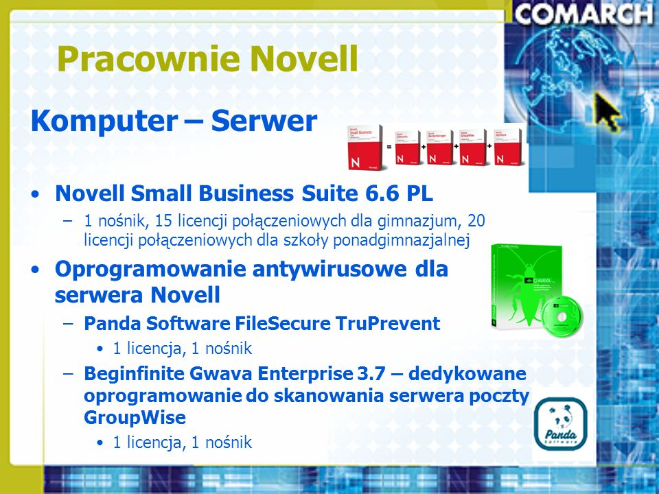 Pracownie Novell Komputer – Serwer Novell Small Business Suite 6.6 PL