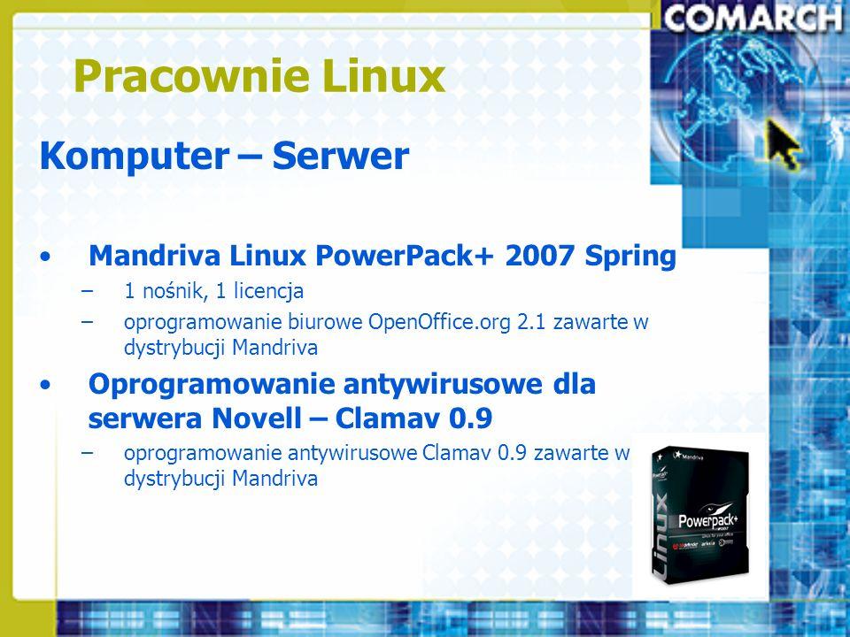 Pracownie Linux Komputer – Serwer
