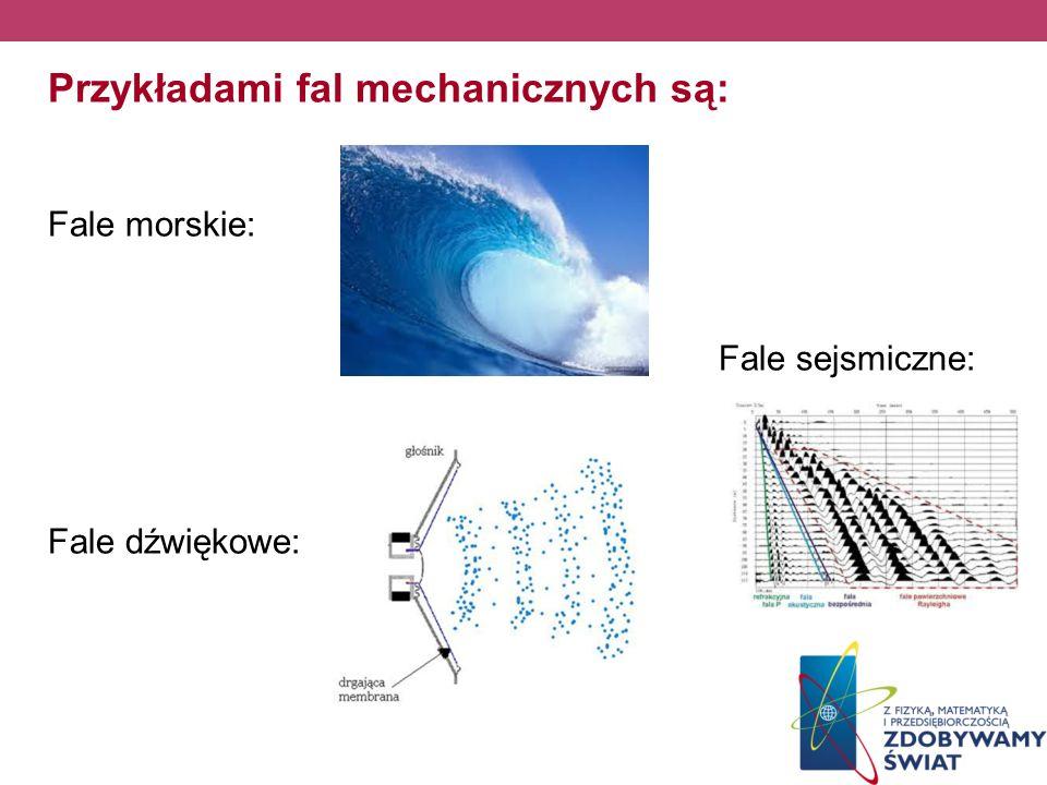 Przykładami fal mechanicznych są: