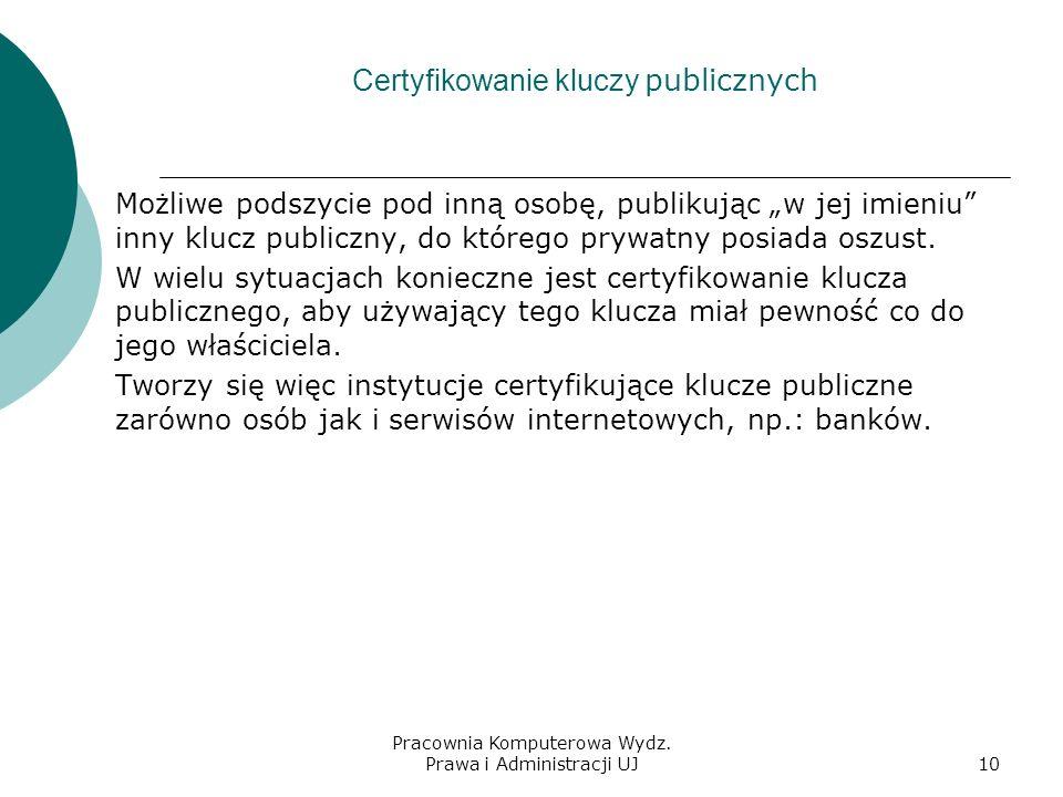 Certyfikowanie kluczy publicznych