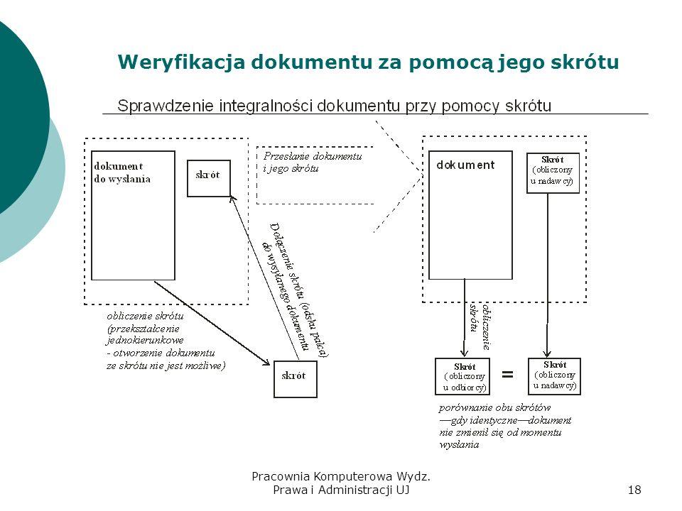 Weryfikacja dokumentu za pomocą jego skrótu