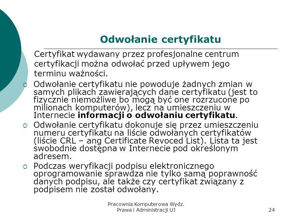 Odwołanie certyfikatu