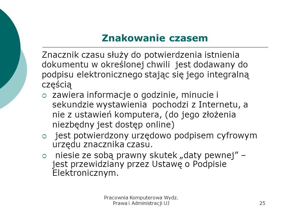Pracownia Komputerowa Wydz. Prawa i Administracji UJ