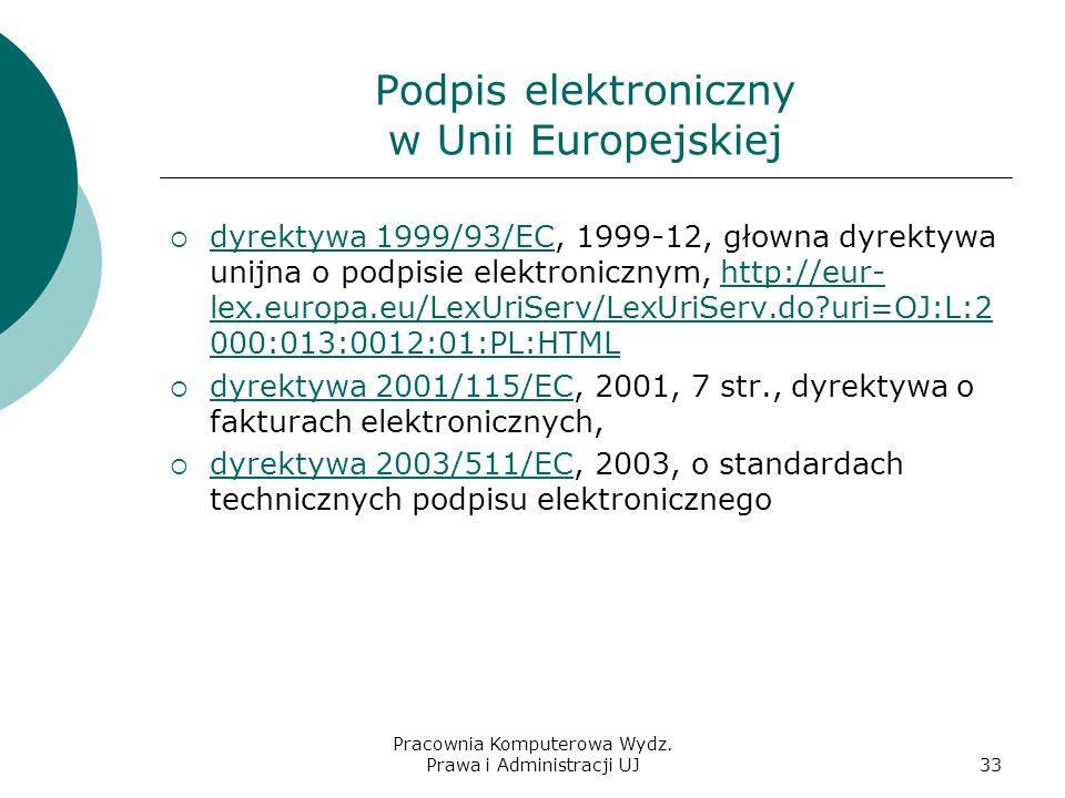 Podpis elektroniczny w Unii Europejskiej