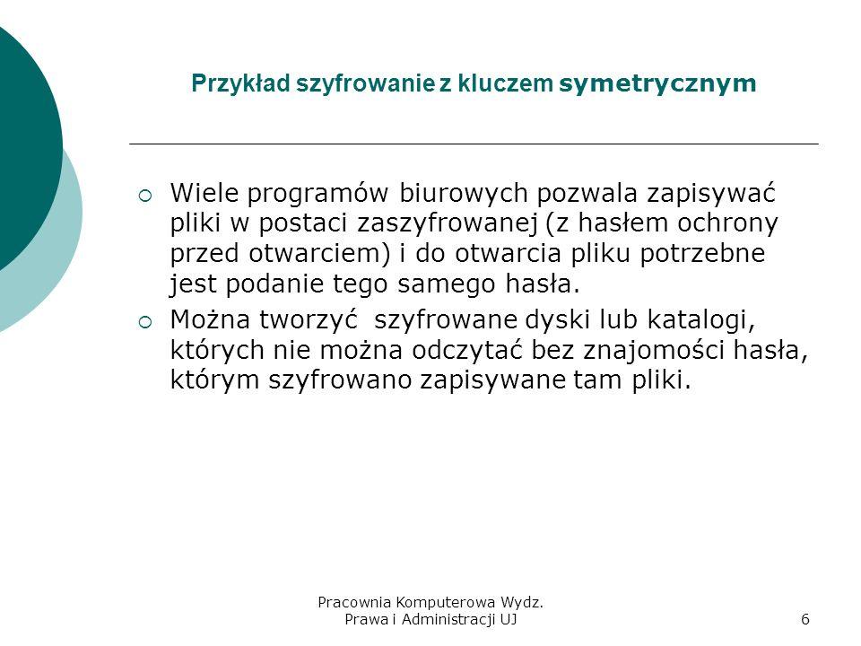 Przykład szyfrowanie z kluczem symetrycznym