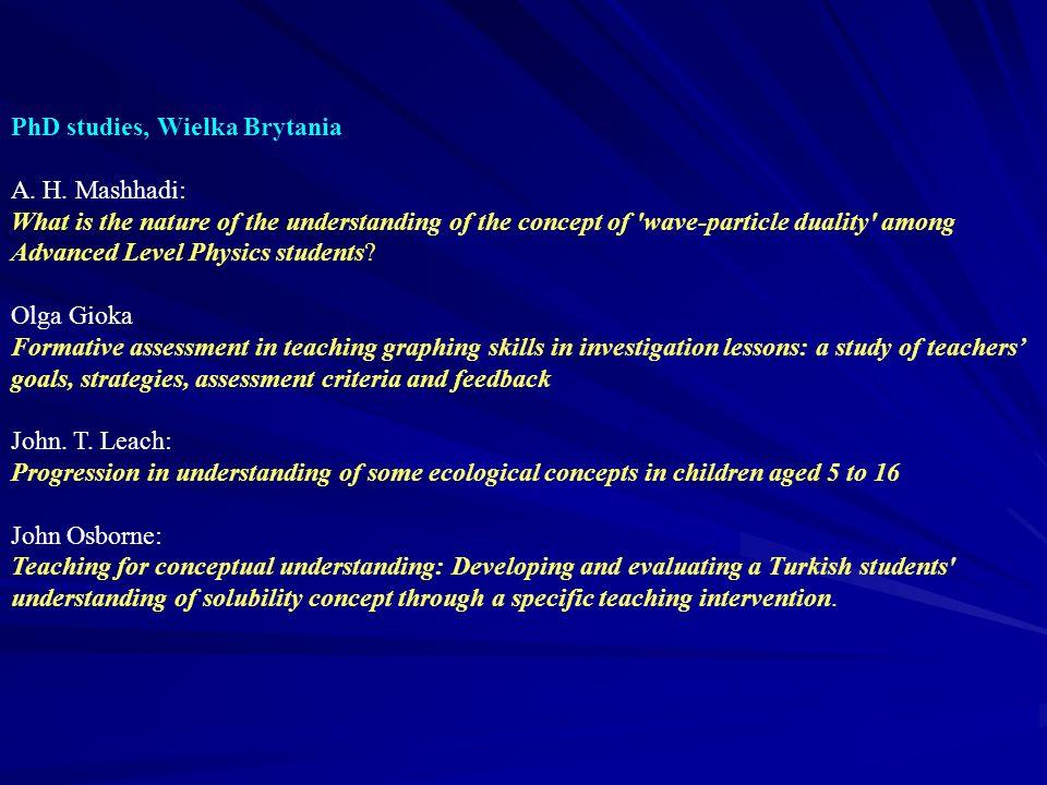 PhD studies, Wielka Brytania