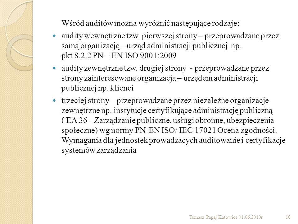 Wśród auditów można wyróżnić następujące rodzaje: