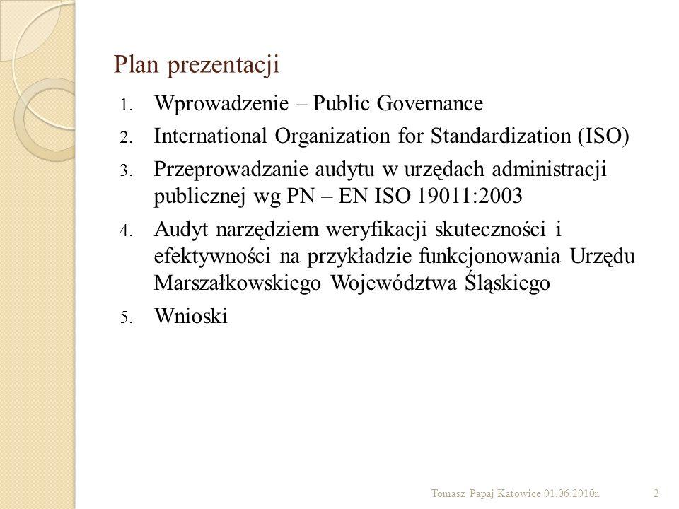 Plan prezentacji Wprowadzenie – Public Governance