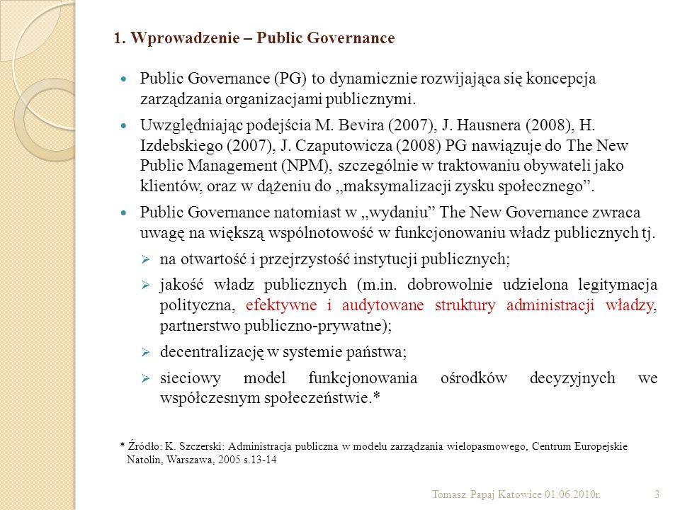 1. Wprowadzenie – Public Governance