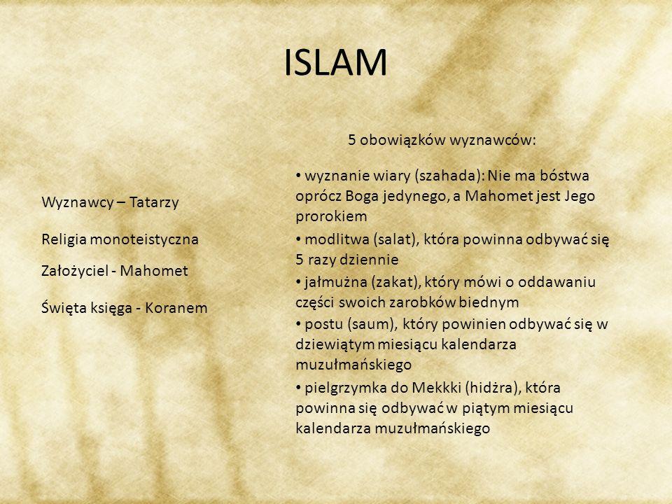 ISLAM 5 obowiązków wyznawców: