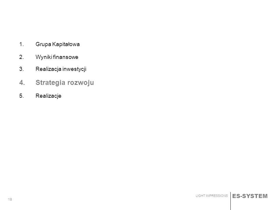 4. Strategia rozwoju 1. Grupa Kapitałowa Wyniki finansowe