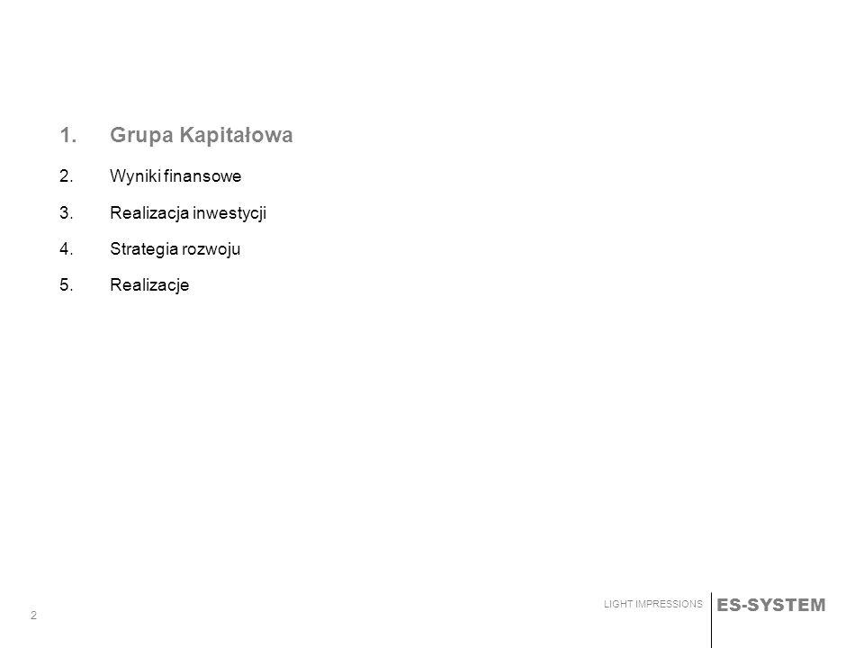 1. Grupa Kapitałowa Wyniki finansowe Realizacja inwestycji