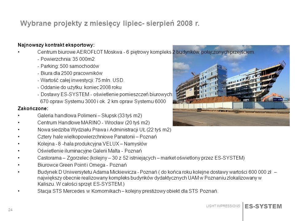 Wybrane projekty z miesięcy lipiec- sierpień 2008 r.