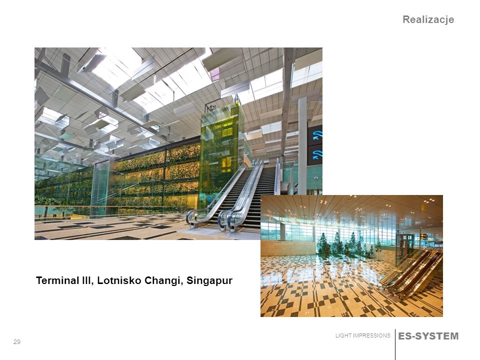 Realizacje Terminal III, Lotnisko Changi, Singapur