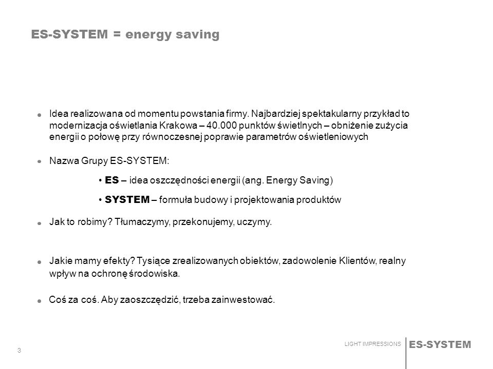 ES-SYSTEM = energy saving