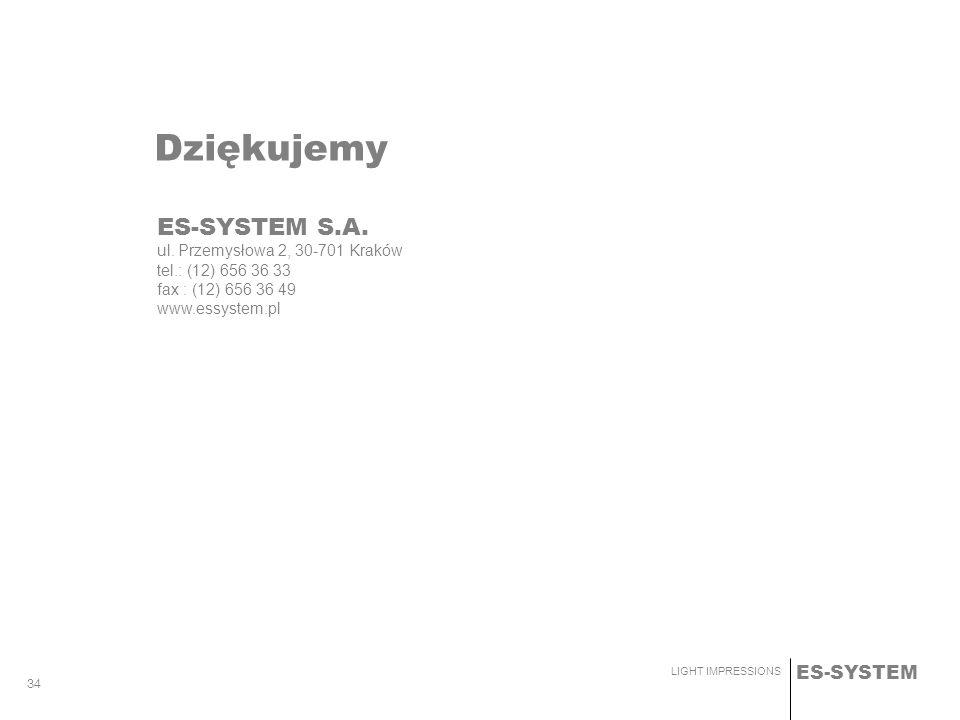 Dziękujemy ES-SYSTEM S.A. ul. Przemysłowa 2, 30-701 Kraków