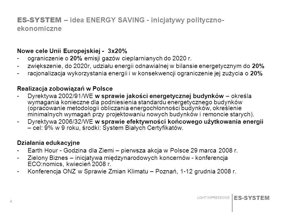 ES-SYSTEM – idea ENERGY SAVING - inicjatywy polityczno-ekonomiczne