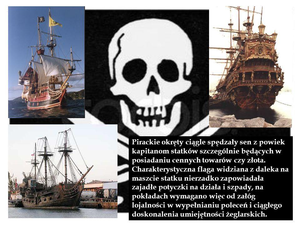 Pirackie okręty ciągle spędzały sen z powiek kapitanom statków szczególnie będących w posiadaniu cennych towarów czy złota.