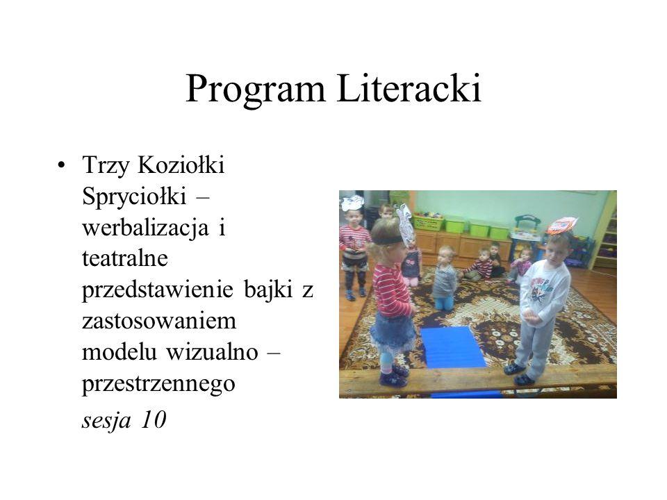 Program Literacki Trzy Koziołki Spryciołki – werbalizacja i teatralne przedstawienie bajki z zastosowaniem modelu wizualno – przestrzennego.