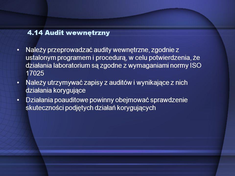 4.14 Audit wewnętrzny