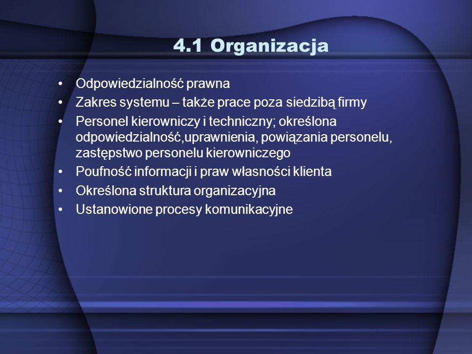 4.1 Organizacja Odpowiedzialność prawna