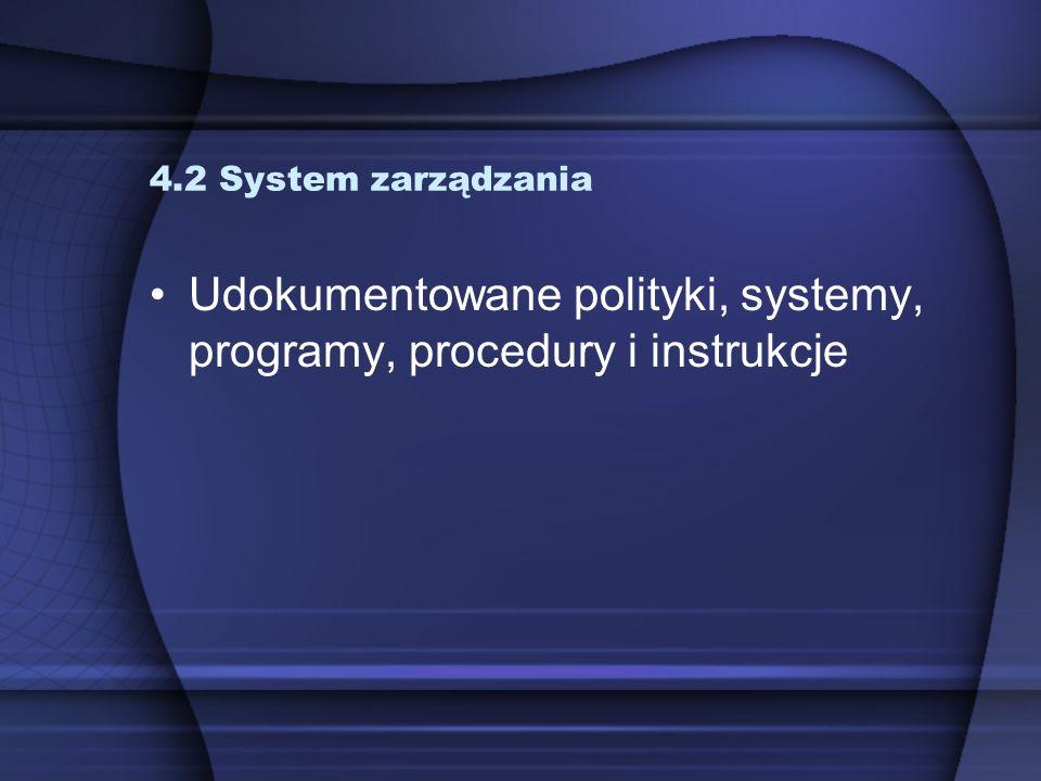 Udokumentowane polityki, systemy, programy, procedury i instrukcje
