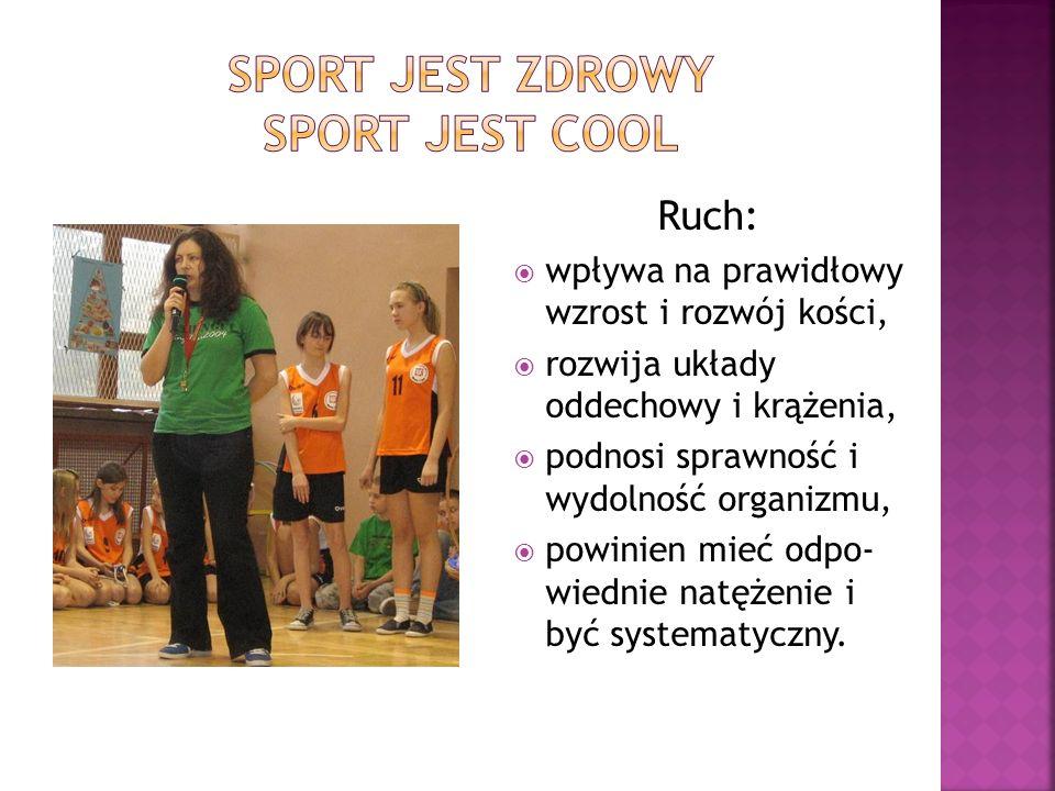 Sport jest zdrowy sport jest cool