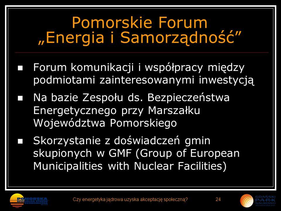 """Pomorskie Forum """"Energia i Samorządność"""