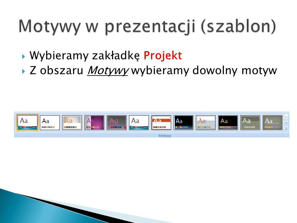 Motywy w prezentacji (szablon)