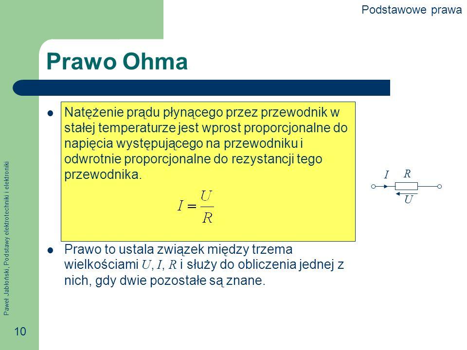 Podstawowe prawa Prawo Ohma.