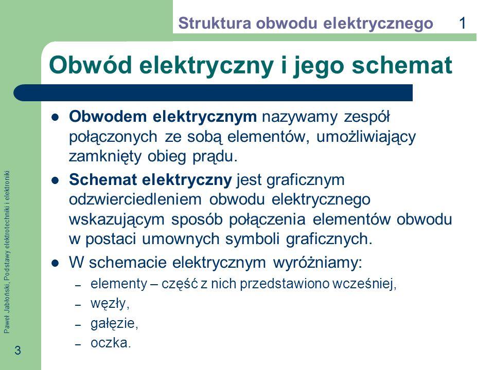 Obwód elektryczny i jego schemat