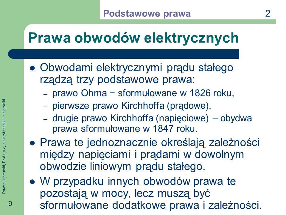 Prawa obwodów elektrycznych