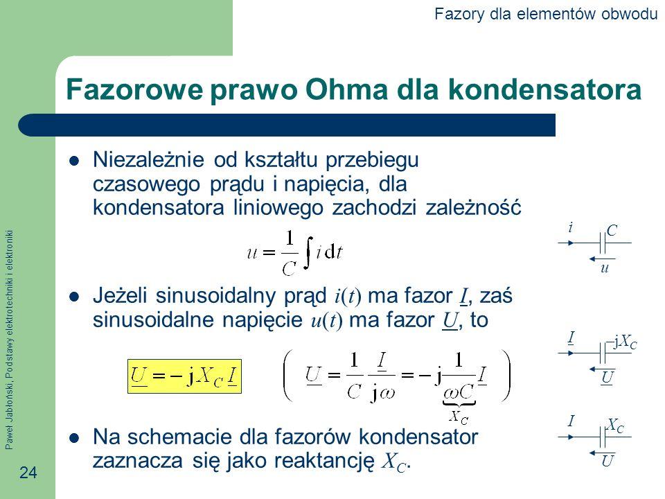 Fazorowe prawo Ohma dla kondensatora