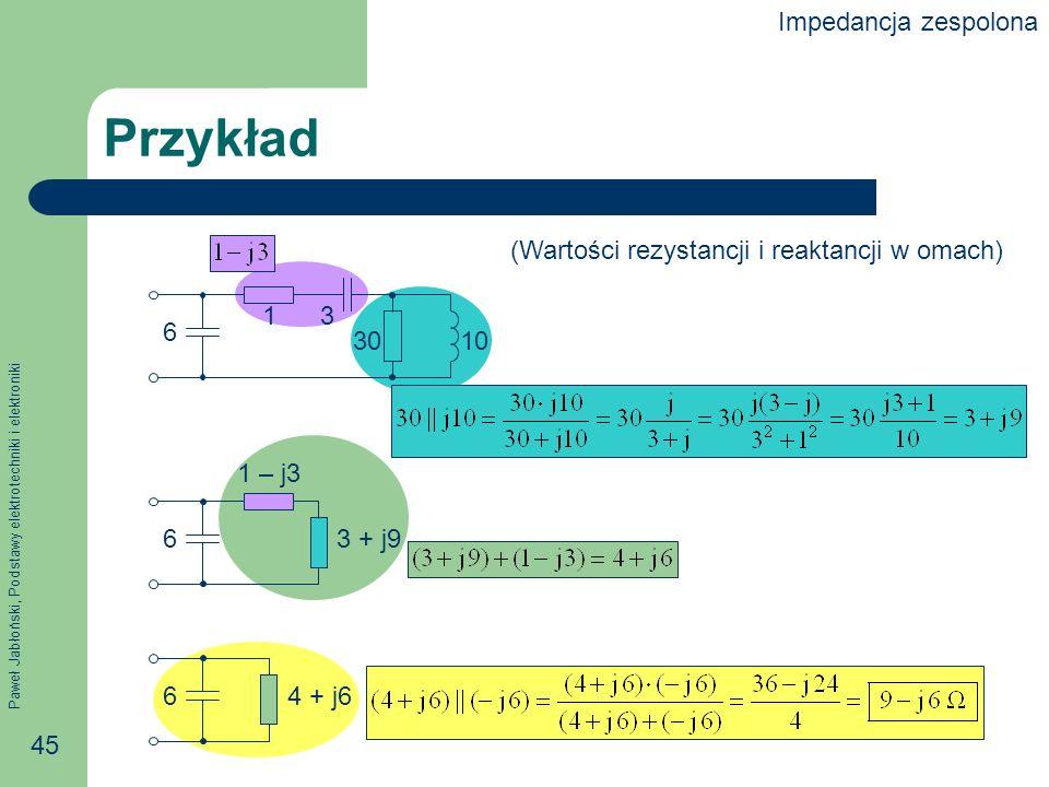 Przykład Impedancja zespolona
