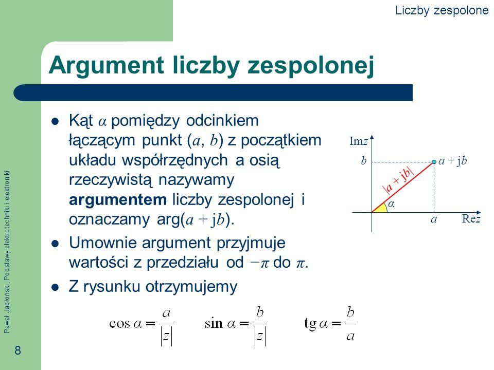 Argument liczby zespolonej