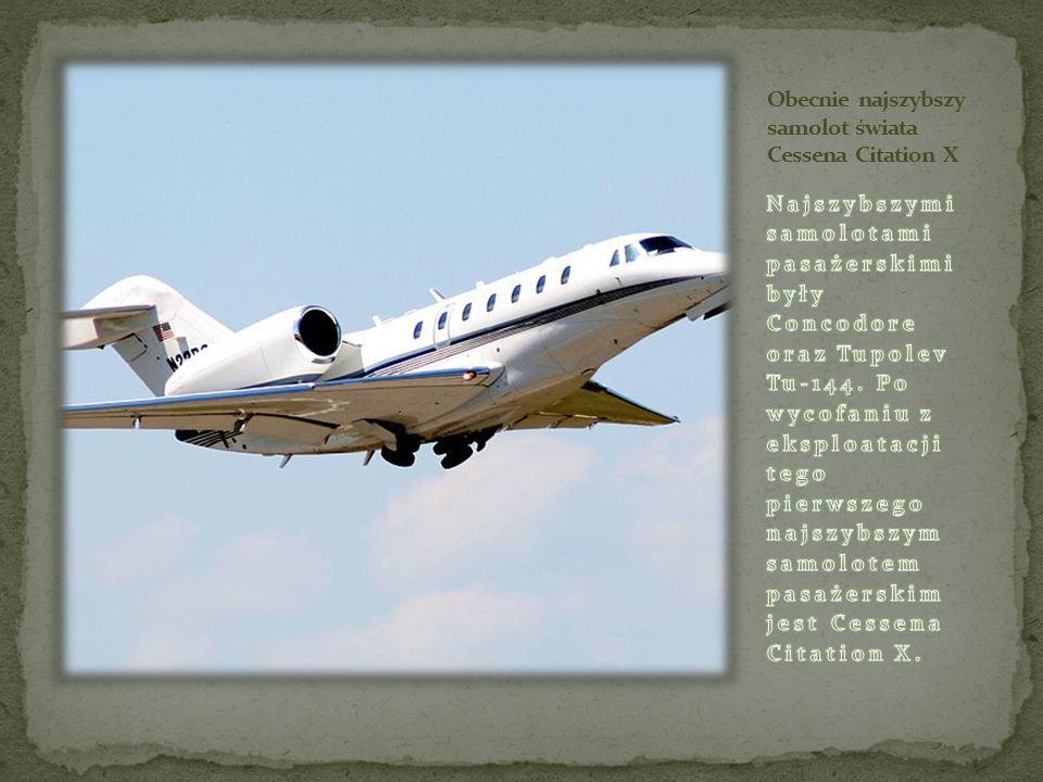 Obecnie najszybszy samolot świata Cessena Citation X