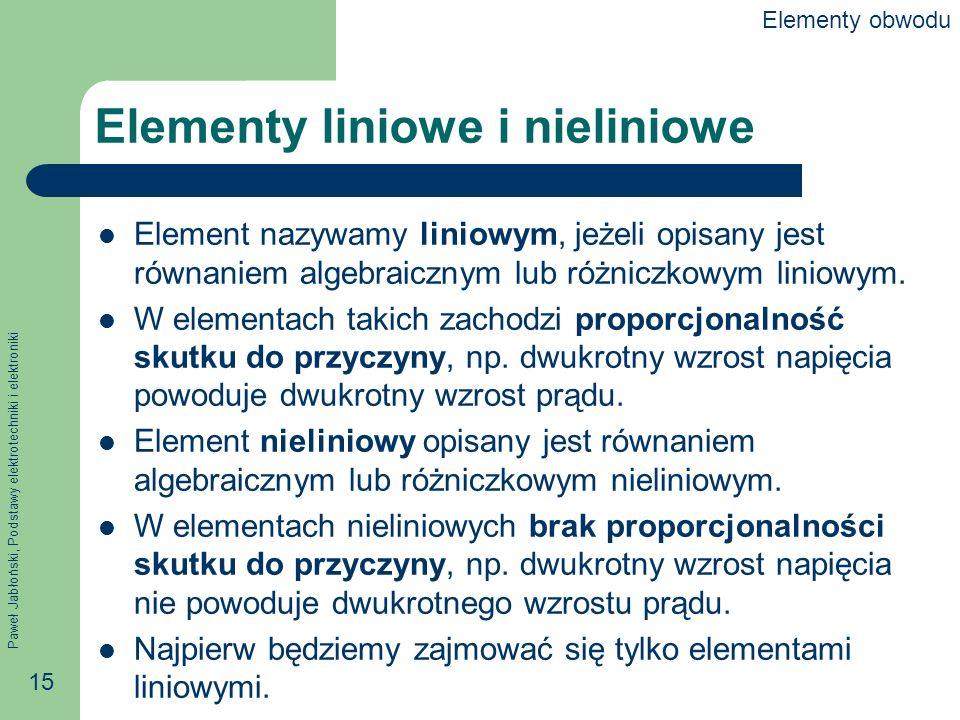 Elementy liniowe i nieliniowe