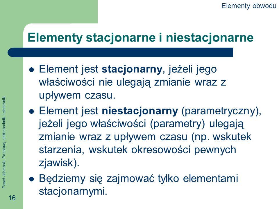 Elementy stacjonarne i niestacjonarne