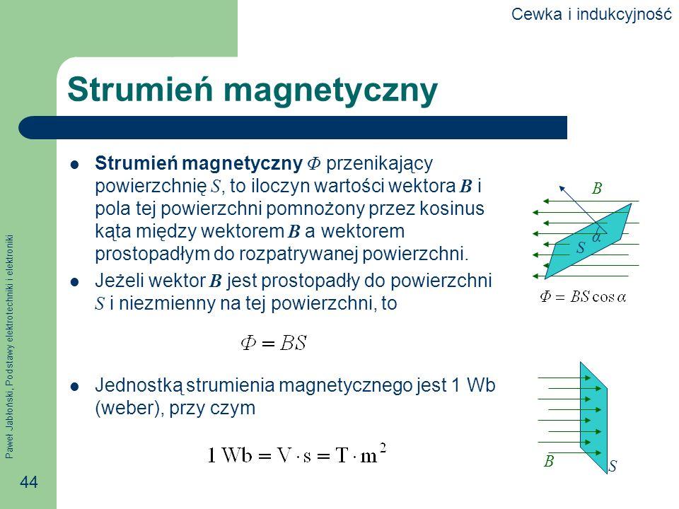 Cewka i indukcyjnośćStrumień magnetyczny.