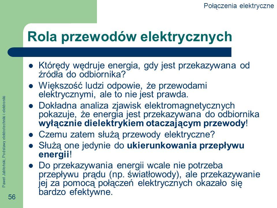 Rola przewodów elektrycznych