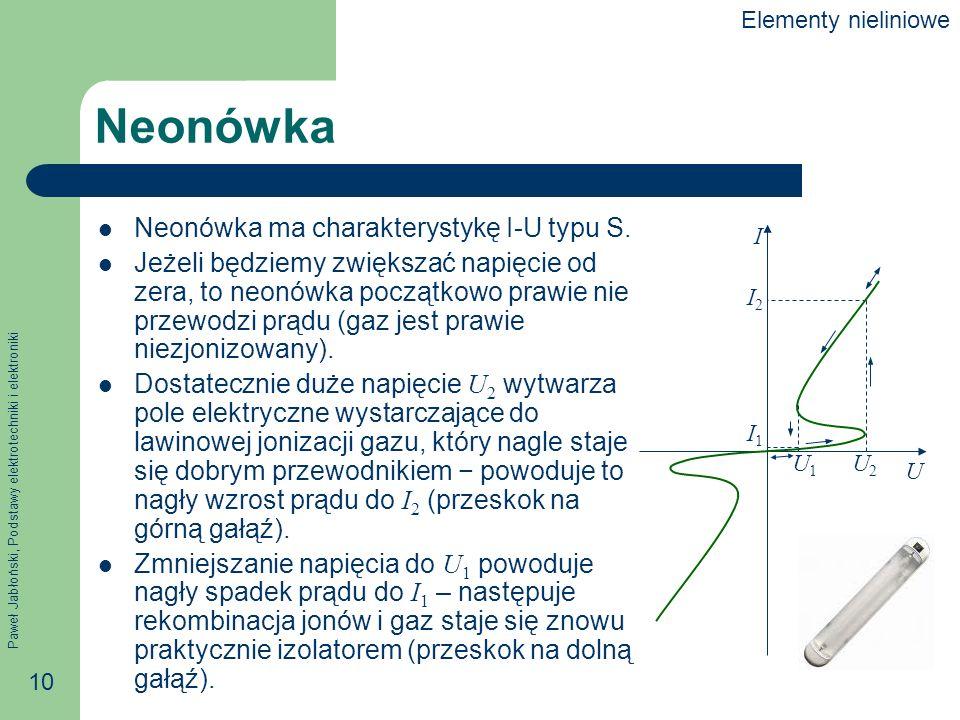 Neonówka Neonówka ma charakterystykę I-U typu S.