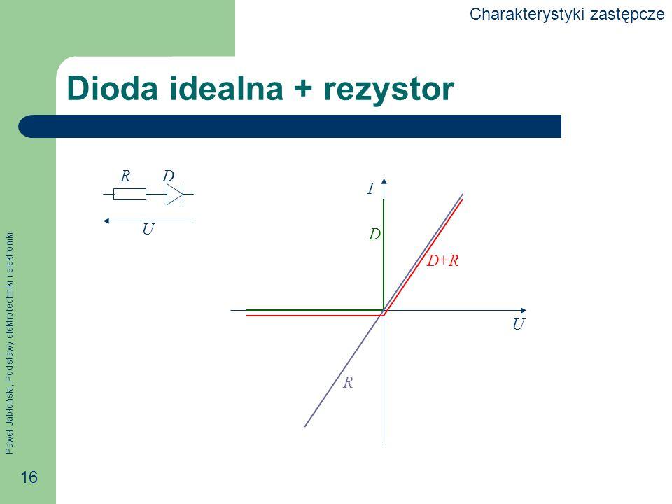 Dioda idealna + rezystor